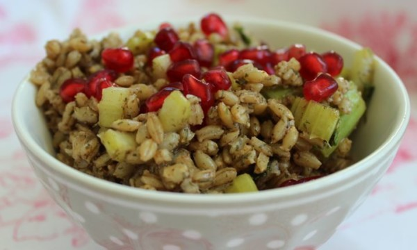 Barley and pomegranate salad