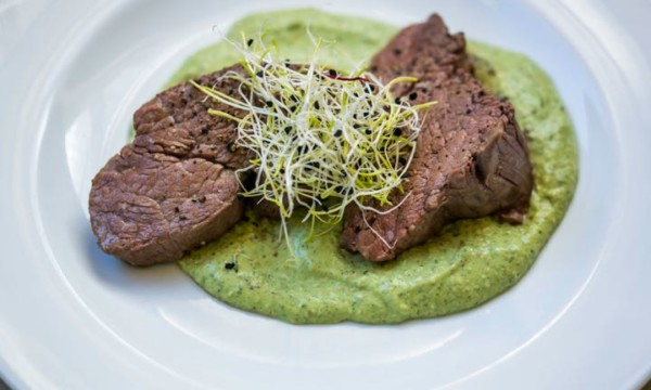 Fillet and Watercress Sauce