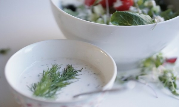 Cucumber and dill dressing