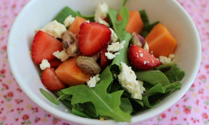 Strawberry and paw paw salad