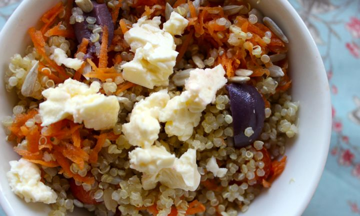 Sunflower seed and quinoa salad