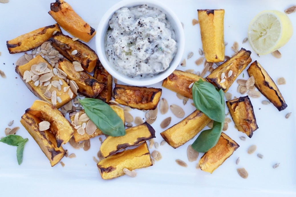 Roasted butternut and burnt aubergine sauce