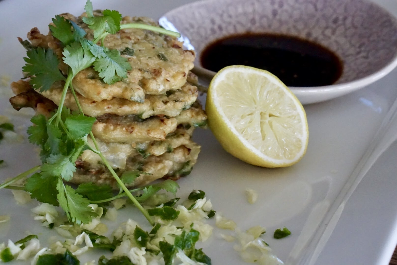 Spinach & Cabbage Fritters